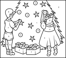 256x226 Christmas Coloring Online