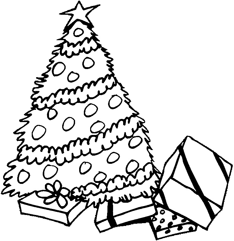 745x768 Christmas Coloring Page For Kids