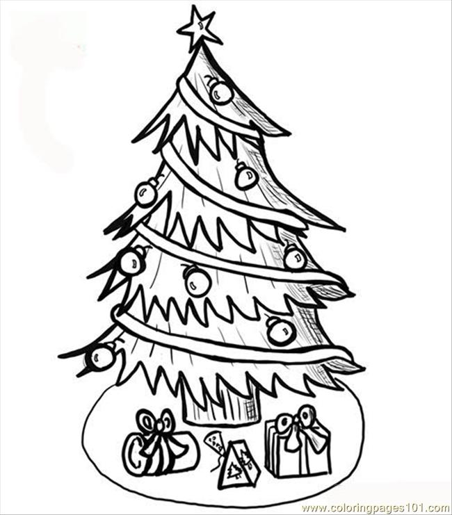 650x741 Christmas Tree Coloring Page Coloring Page