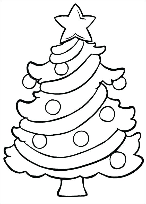 567x794 Christmas Tree Coloring Pages For Kids Printable D Arvors Tr Pag