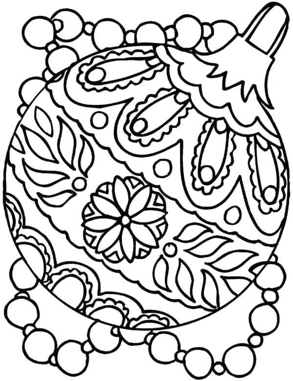 599x777 Christmas Ornament Coloring Pages With Merry Ornaments Coloring