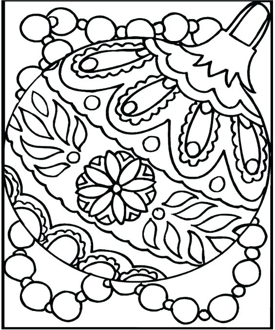 564x676 Christmas Ornament Coloring Sheets Printable Coloring Pages