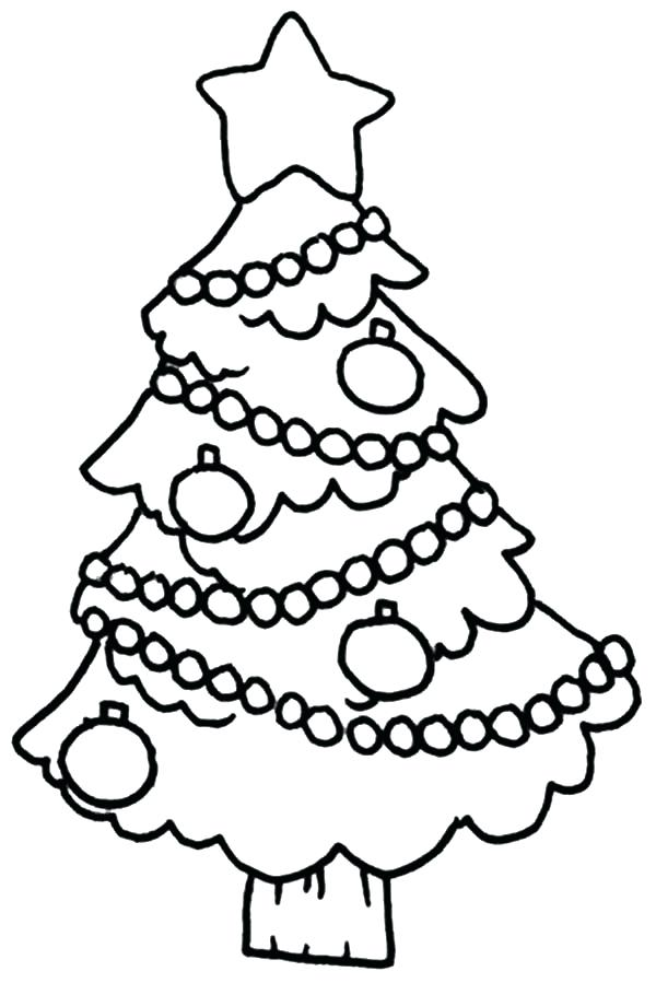 600x899 Christmas Tree Coloring Pages Trees Decorated Tree Coloring Pages