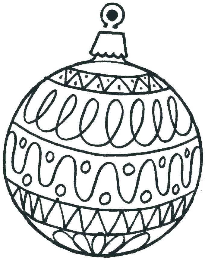 680x867 Christmas Tree Decorations Colouring Pages Trees For Coloring Free
