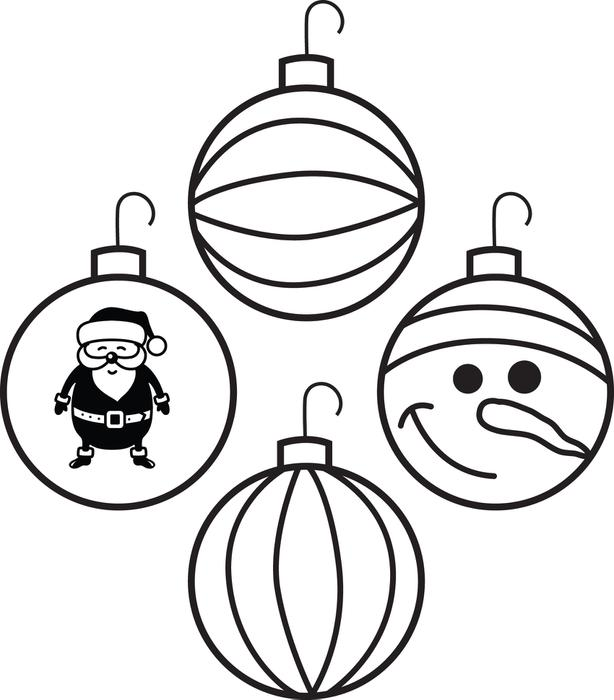 614x700 Best Christmas Ornament Coloring Pages Free Printable