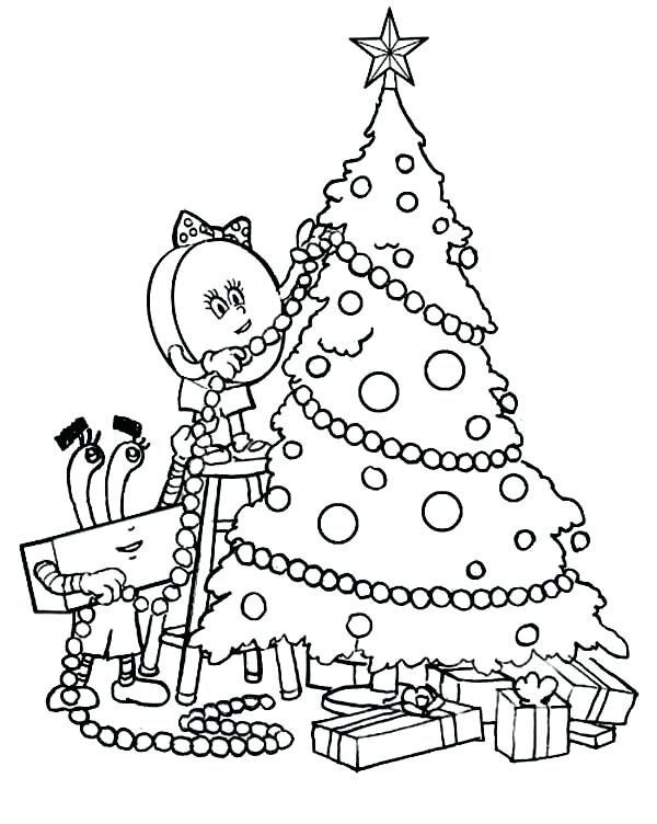 600x752 Coloring Page Christmas Tree Easy To Color Tree Coloring Pages