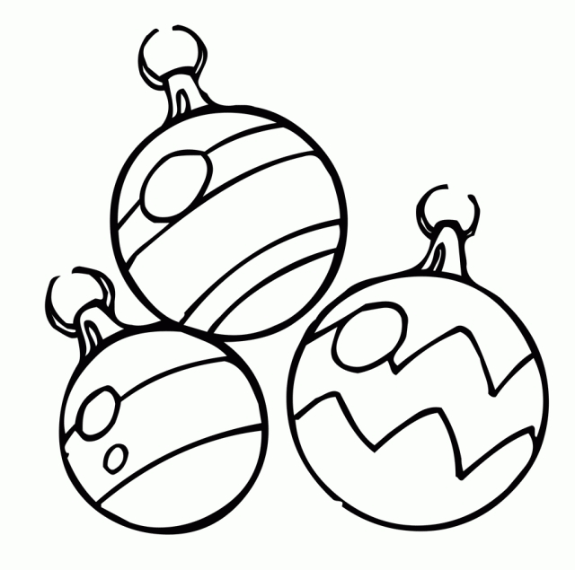640x635 Free Christmas Ornament Coloring Pages Free Christmas Ornaments