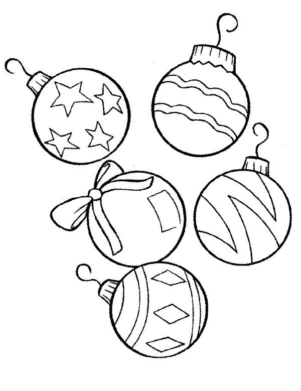 600x779 Christmas Ornaments Coloring Pages To Print Free Printable
