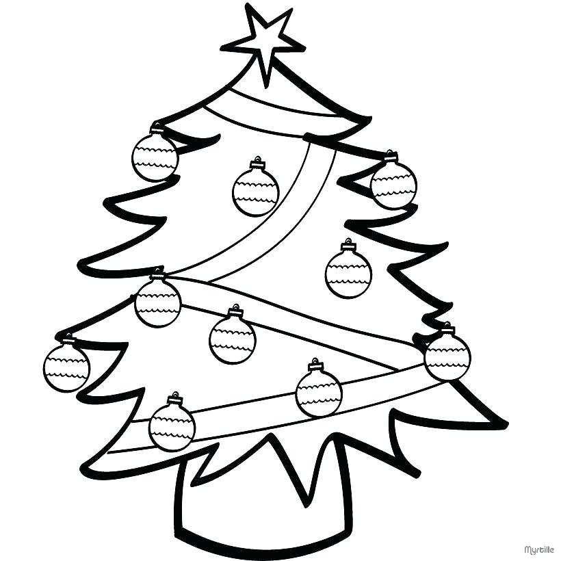 820x820 Christmas Tree Ornaments Coloring Pages