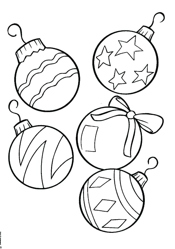 736x1047 Christmas Decorations Drawings Ornaments Coloring Pages Ornaments
