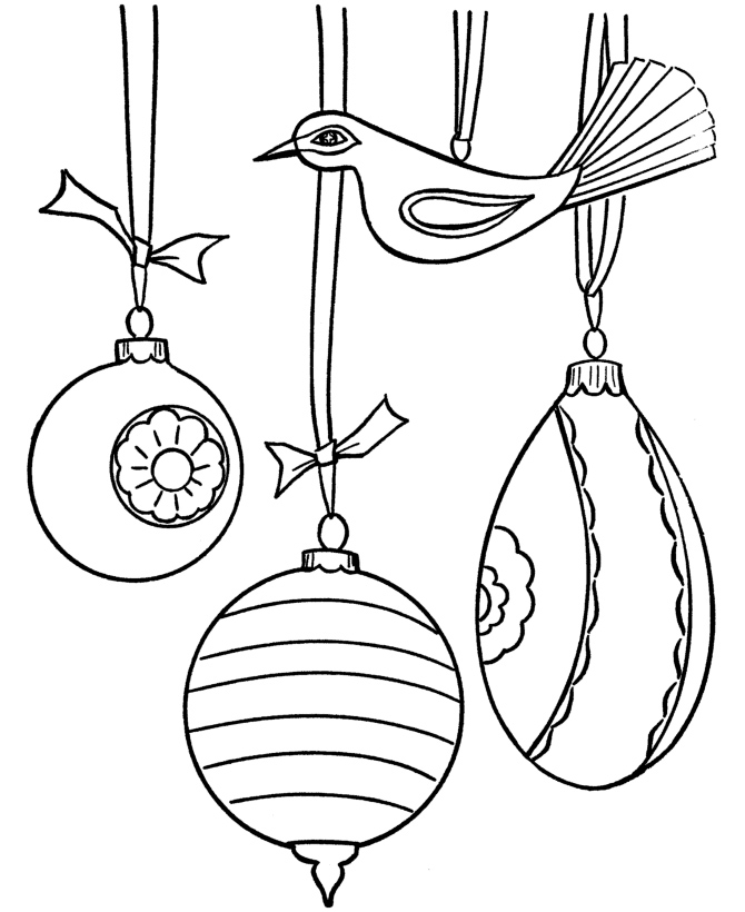 670x820 Christmas Ornament Coloring Pages