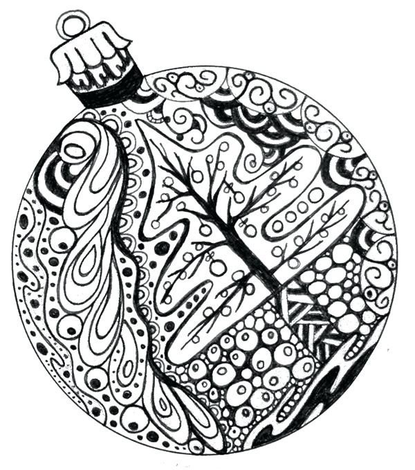600x679 Christmas Ornament Coloring Pages In Addition To Ornaments