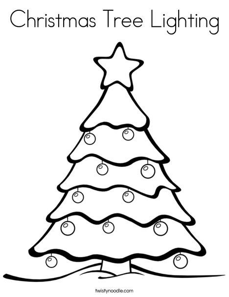 468x605 Christmas Tree Lighting Coloring Page