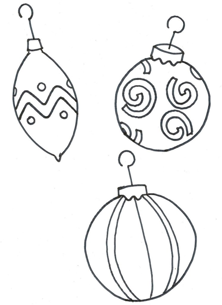 745x1024 Christmas Tree Ornament Coloring Pages Many Interesting Cliparts