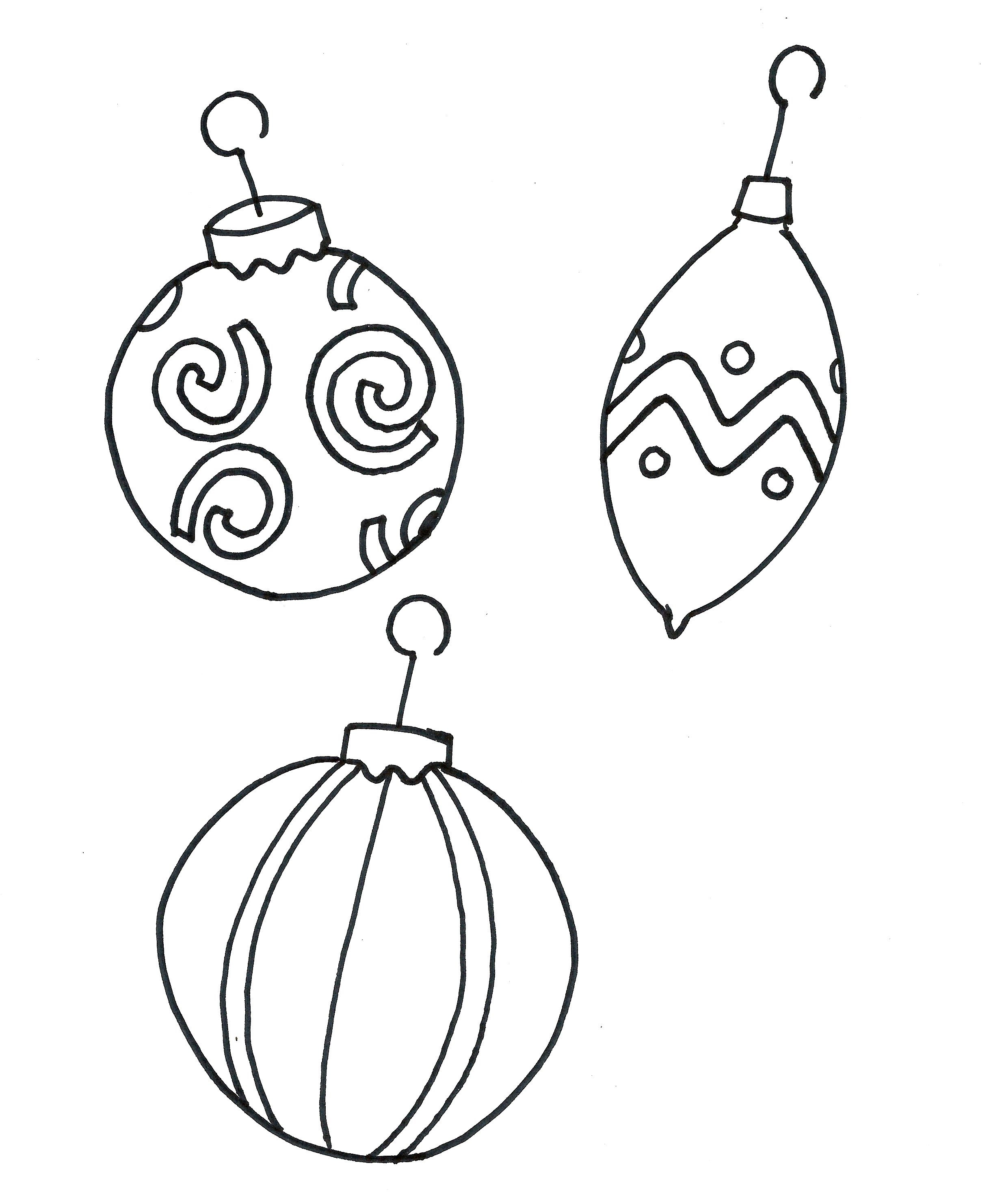 2440x2965 Christmas Tree Ornaments Printable Coloring Pages