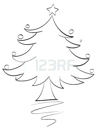 340x450 Christmas Tree Outline Free Printable Best Collection Coloring