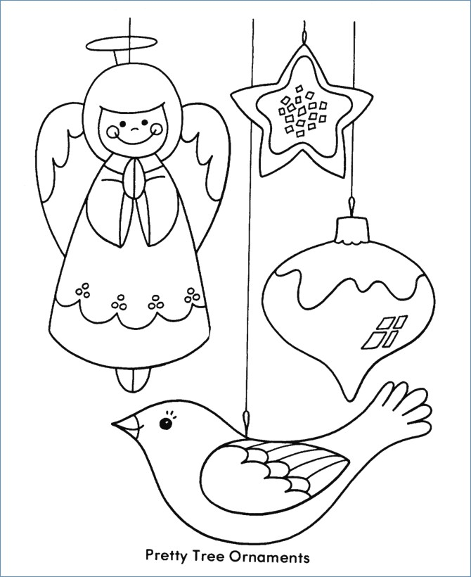 670x820 Angel Christmas Tree Ornaments Christmas Coloring Page