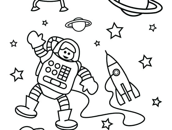 564x425 Free Coloring Pages Christmas Tree Ornaments Space Page Rocket