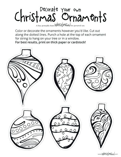 502x650 Free Printable Christmas Tree Ornaments Coloring Pages Ornament