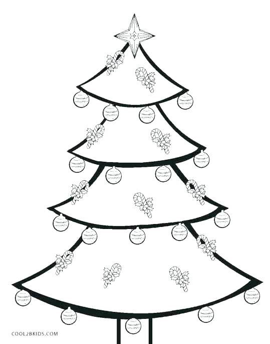 539x685 Printable Christmas Tree Coloring Pages Also Tree Coloring Page