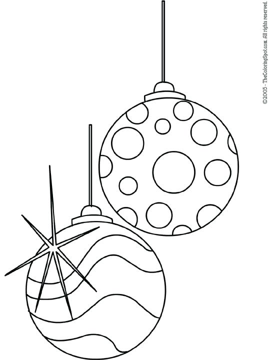 540x720 Christmas Tree Ornaments Coloring Pages