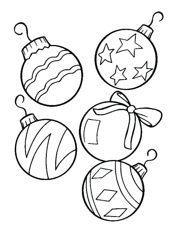 600x783 Christmas Tree Ornaments Coloring Pages