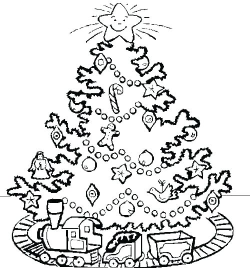 500x536 Coloring Page Of Christmas Tree