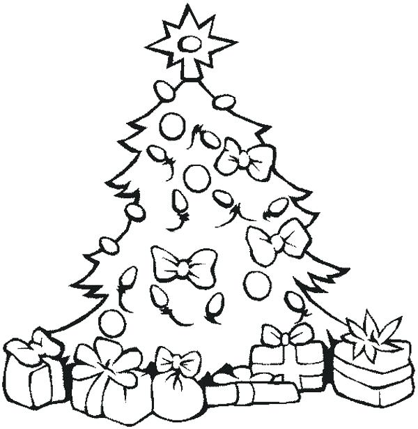 600x615 Tree Ornament Coloring Pages