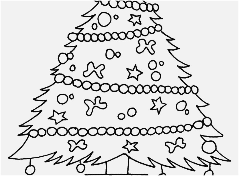 827x609 Christmas Tree Coloring Page Images Christmas Trees Ornament