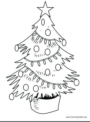 300x407 Christmas Tree Coloring Pages Free S S Free Christmas Tree