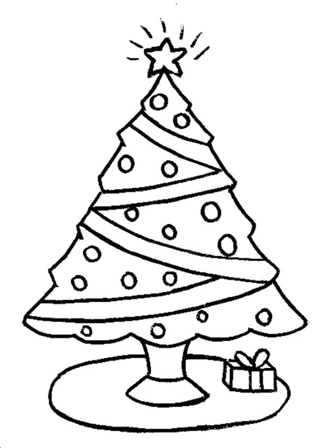 658x909 Christmas Tree Coloring Pages Printable Best Tree Coloring Page