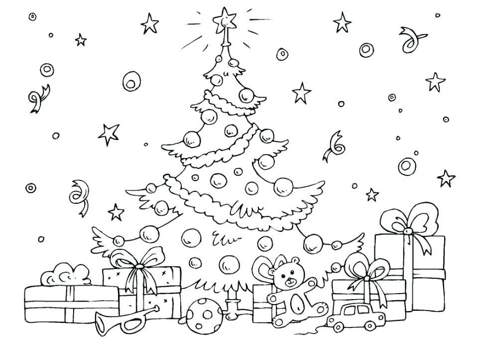 Christmas Tree Coloring Pictures.Christmas Tree Pictures Coloring Pages At Getdrawings Com