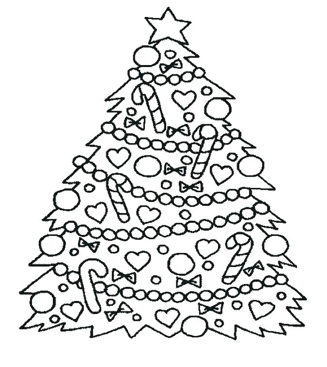 Christmas Tree Pictures Coloring Pages At Getdrawings Com Free For