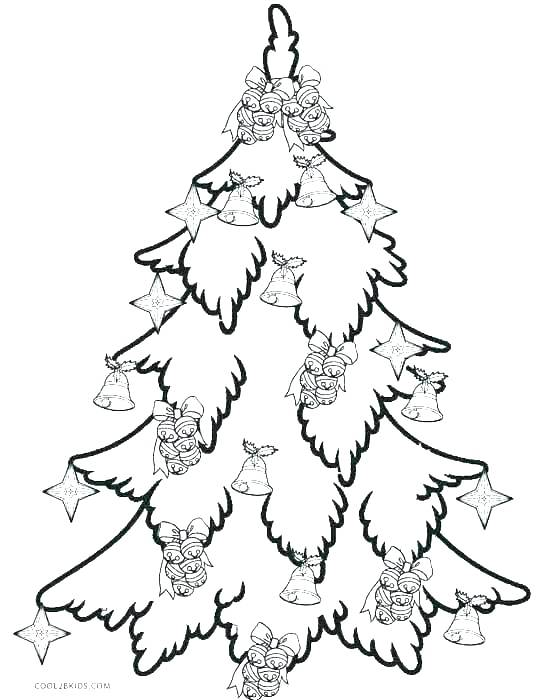 541x700 Coloring Ornaments For Christmas Tree Tree Coloring Page Trees