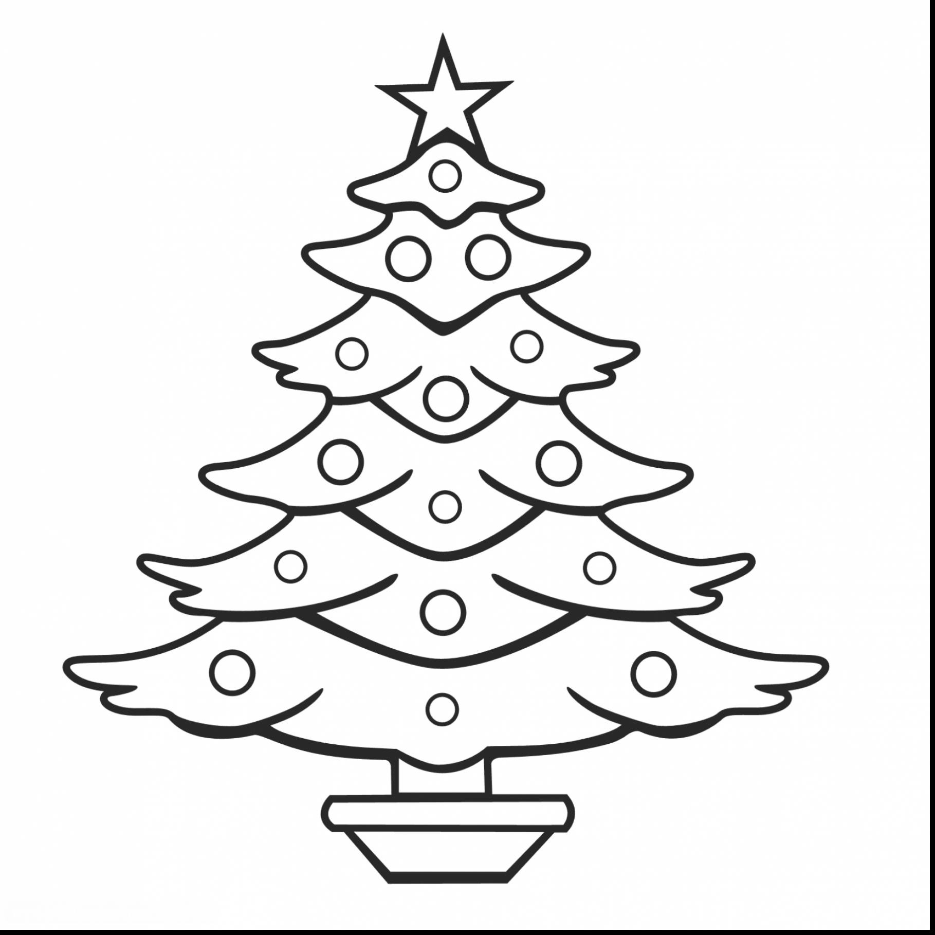 1819x1819 Coloring Pages Evergreen Trees Copy Remarkable Christmas Tree