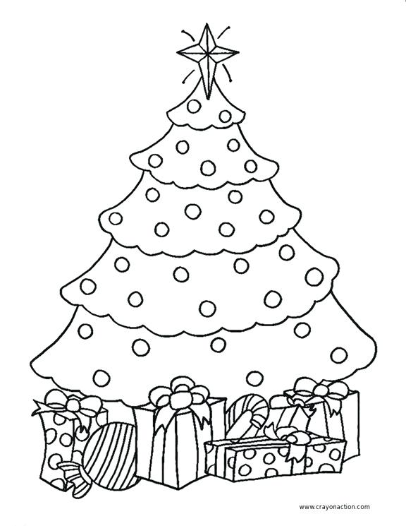 Christmas Tree Pictures Coloring Pages At Getdrawings Com