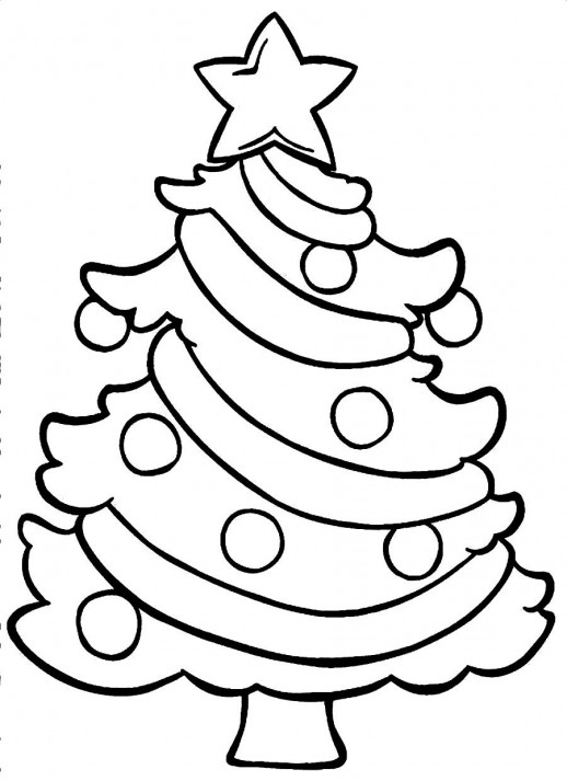 518x713 A Small Christmas Tree Coloring Pages