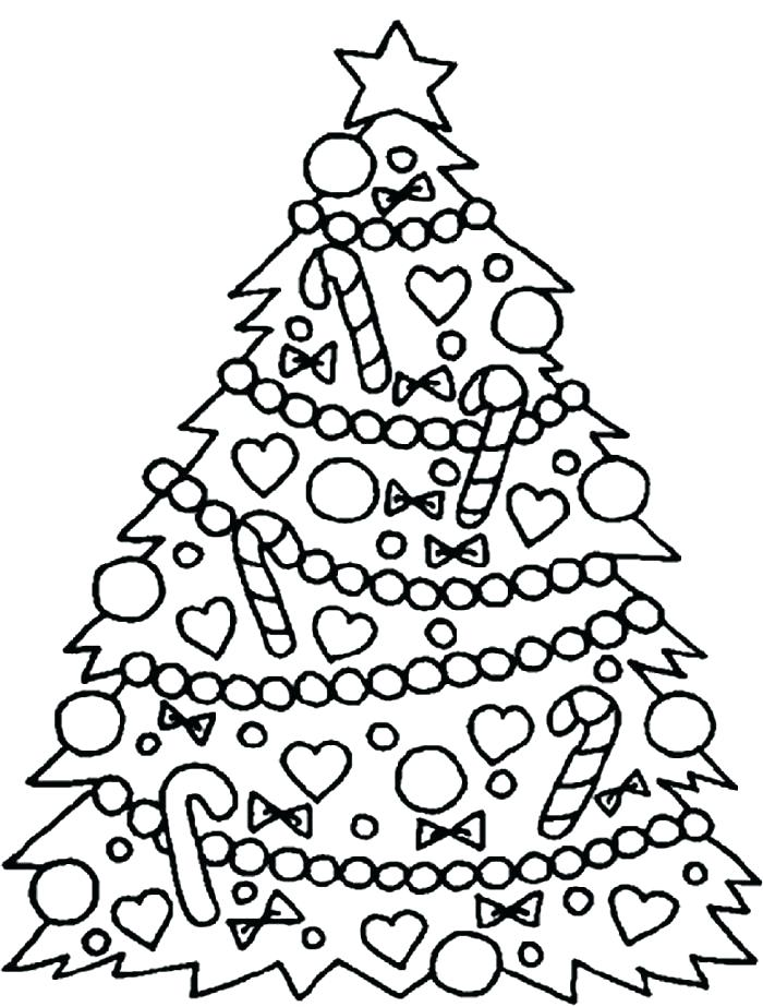 700x923 Plain Christmas Tree Coloring Page Tree Color Template Tree Color
