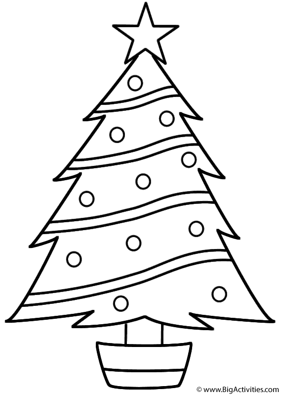 571x800 Christmas Tree Coloring Pages Christmas Tree Coloring Page