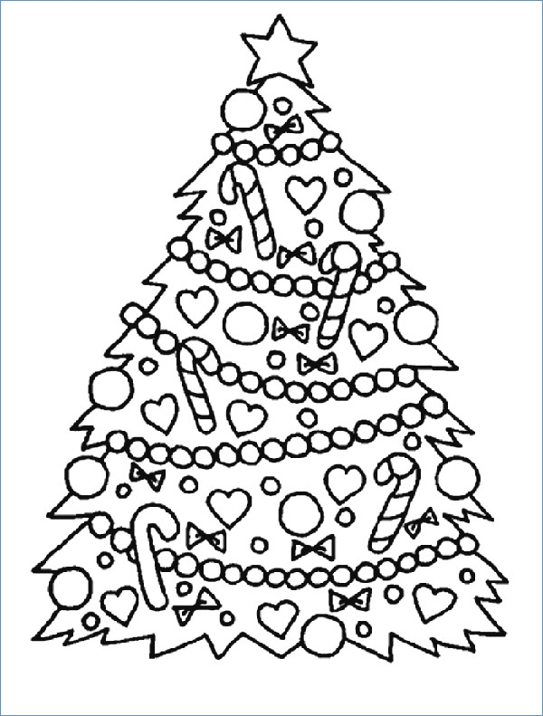 600x791 Christmas Tree Coloring Pages With Presents