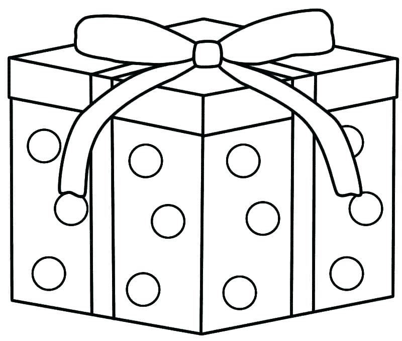 800x677 Christmas Tree Presents Coloring Page Pages Of Gifts Birthday