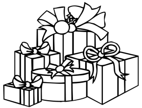 290x222 Christmas Tree Presents Coloring Book