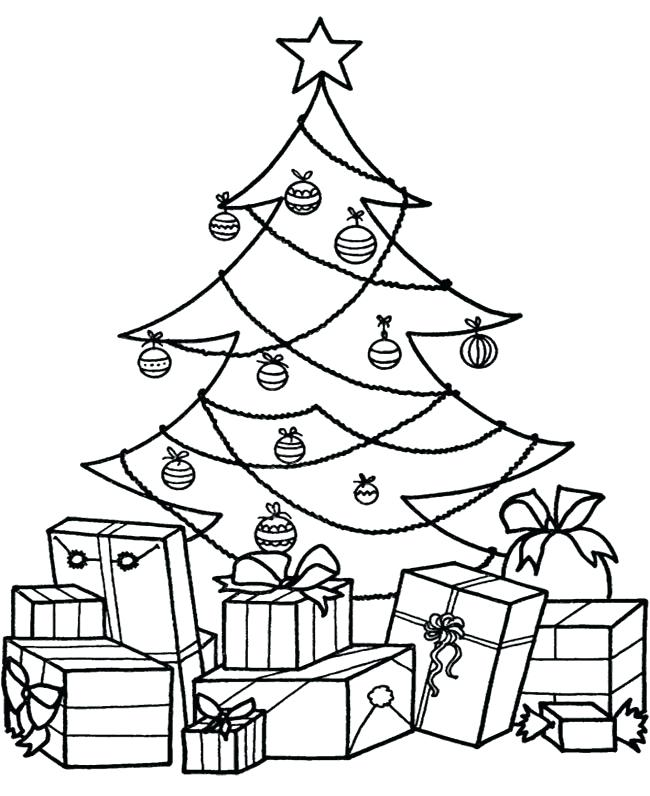 650x796 Coloring Page Christmas Tree Tree With Presents Coloring Pages