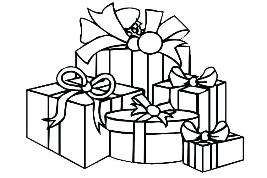 850x567 Free Coloring Pages Christmas Tree Coloring Pages Of Presents