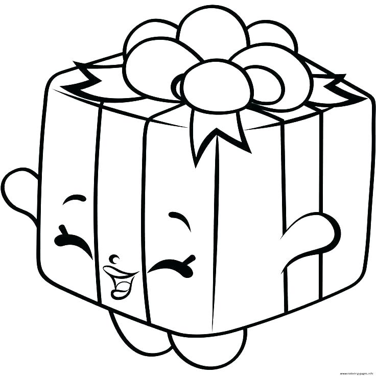 736x736 Christmas Gift Coloring Page