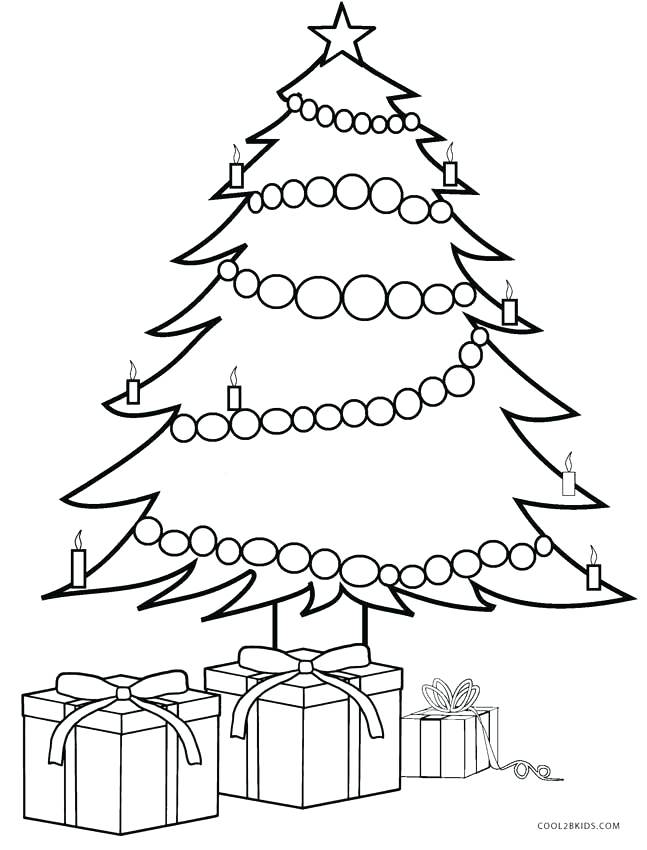 647x850 Christmas Gift Coloring Page Children Gifts And Tree Coloring Page