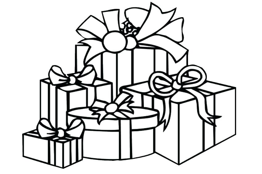 850x567 Christmas Gift Coloring Page Gift Coloring Pages Presents Coloring