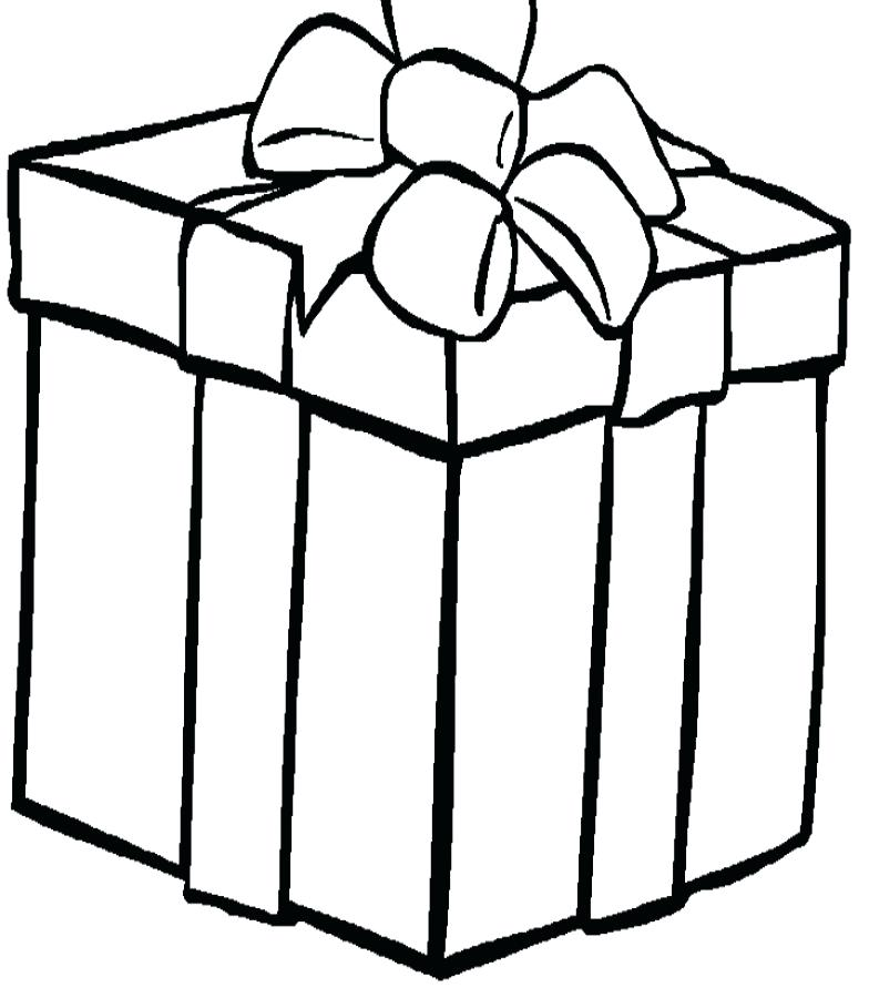 784x900 Christmas Gift Coloring Page Presents Coloring Pages Gift Free