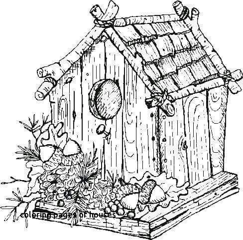 488x481 Christmas Village Coloring Page Printable Coloring Pages