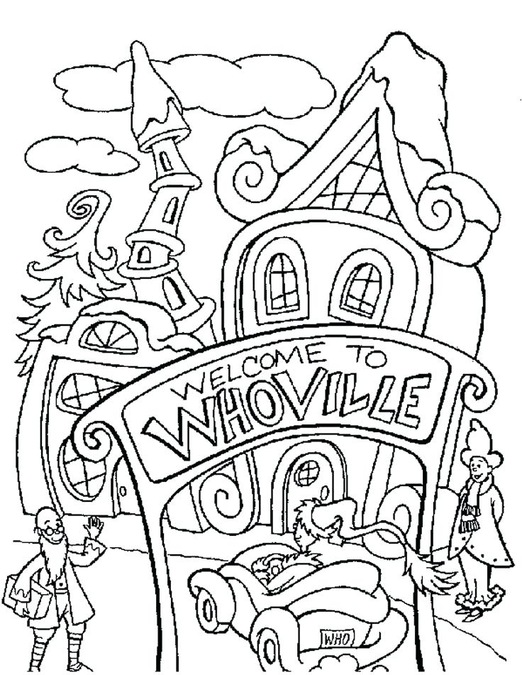736x951 Christmas Village Coloring Pages Activity Coloring Sheets Lovely